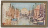 Grand Canal Trieste Italy  90+ Y/O Ad Trade Card