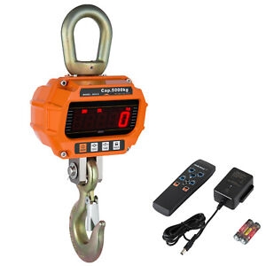 5000kg Electronic Crane Scale Digital Industrial Medical Hanging Weight 5t New