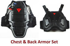 Motorcycle Riding Black Chest & Back Off Road Armor Protective Safety Gear DNS