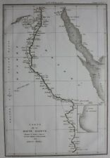 Original antique map UPPER EGYPT, RIVER NILE, Napoleonic Wars, Tardieu c1824