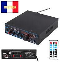 12V/220V 800W HiFi Bluetooth Audio Amplificateur Amplifier Stéréo USB FM SD