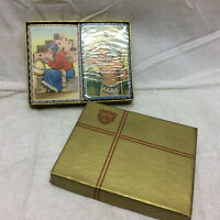 2 Vintage Playing Cards Decks ARRCO Playing Card Co Chicago USA Indian