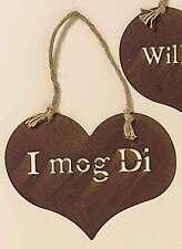 """Schild """"I mog Di"""" 25 x 20 cm Eisen lackiert rost Tür-Schild Eingangs-Schild"""