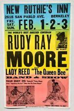 Rudy Ray Moore Concert Poster Berkeley 1985