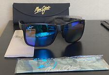 New Maui Jim Red Sands Matte Black Blue Hawaii Polarized Sunglasses