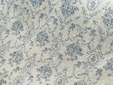 French Provincial Blue Cameo Toile Shabby Chic Double Sided Quilted Throw Rug