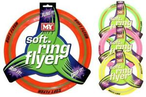 Flying Ring Disc Frisbee Flyer Adult Kids Pet Family Outdoor Fun Game 29cm Soft