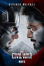 Captain America Civil War Movie Poster (24x36)- Chris Evans, Robert Downey Jr v1