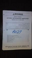 mitsubishi da-u111 u161 service manual original stereo integrated amplifier