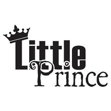 LITTLE PRINCE Boys Nursery Bedroom Vinyl Wall Decal Lettering Words Sticky