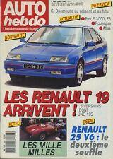 AUTO HEBDO n°626 du 25 Mai 1988 R25 V6 MILE MIGLIA