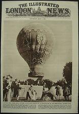 Montgolfiere Balloon Paris Charles Dolfus De Rozier 1951 Magazine Page Article