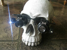 Steampunk Glasses with Monocles Magnifier LED Light