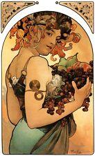 Alphonse Alfons Mucha Art Nouveau LARGE 16x10 inch A3 Size Fruit Poster Print