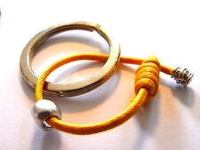 Portachiavi MS Argento 925 anello brisè acciaio cotone naturale cerato colorato