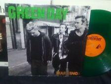 GREEN DAY Warning LP RARE 1st PRESS 2000 Adeline GREEN VINYL NEAR MINT + INSERT