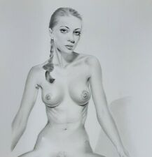 "Pin Up Print Of The Original Hot Erotic Draw "" MeCos Art "" Limited Edition - 204"
