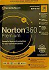 Norton 360 Premium 10 Devices 1Year Android Mac Win iOS VPN 75GB Backup Key Card
