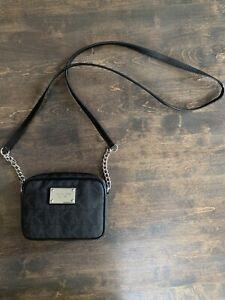 Michael Kors black leather crossbody bag small purse