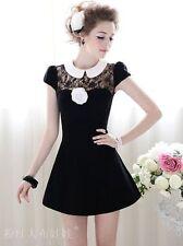 Cotton Blend Solid Tea Dresses
