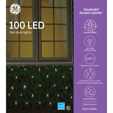 NEW 5 Boxes - GE 5 x 4-ft Random Sparkle White 100 LED Mini Net Light