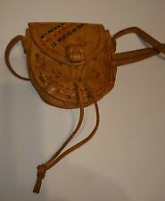 Ethiopia Leather Medicine Pouch Handmade necklace or purse vintage used