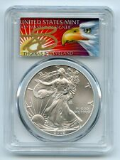 2002 $1 American Silver Eagle Dollar PCGS MS70 Thomas Cleveland Eagle