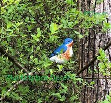 Bluebird Hand Painted Metal Garden Yard Art Sculpture Blue Bird Songbird Decor