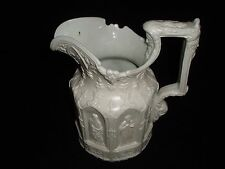 CHARLES MEIGH SOFT PASTE PITCHER CIRCA 1842