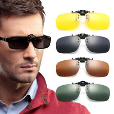 Unisex Sunglasses Clip On Flip Up Driving Glasses Holiday Sun Mens Womens UK