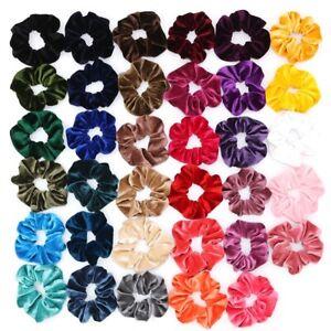 Velvet Hair Scrunchies Elastic Hair Bobble Girls Headwear Hair Ponytail lot