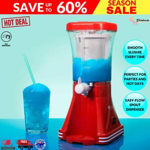Mistral Super Slushie Maker Making Icy Cold Refreshing Drinks for Hot Summer Day