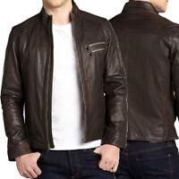 ★Giacca Giubbotto Uomo in di PELLE 100% Men Leather Jacket Veste Homme Cuir R44c