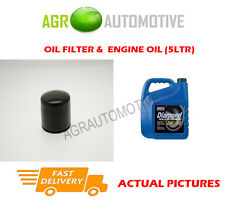 PETROL OIL FILTER + 0W40 ENGINE OIL FOR HYUNDAI COUPE 2.0 137 BHP 1996-02