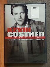 Kevin Costner - Triple Feature (DVD, 2008, 3-Disc Set)  BRAND NEW