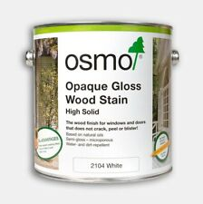 Osmo Opaque Gloss Wood Stain - White - 750ml and 2.5L