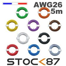 awg26/5#  fil de câblage modélisme bobine de 5m plusieurs couleurs disponibles