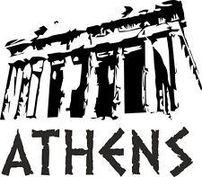 """Auto Aufkleber """" ATHEN """" Sticker Stadt Griechenland ca.9x11cm konturgeschnitten"""