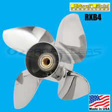 Yamaha Stainless Prop 50-140hp Power Tech Rxb4 Propeller 4 Blade 13 1/4 X 16