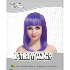 Perruques, extensions et matériel violets longues sans marque pour femme