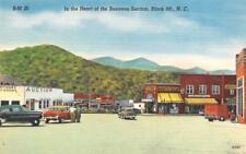BLACK MOUNTAIN, NC North Carolina  STREET SCENE~Auction House~Uzzel's  c1940's