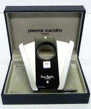 Pierre Cardin Cigar Cutter in Black and Steel Finish