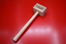 Wooden Laser Engraved Meat Hammer Tenderiser Hammer Time