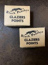 Vintage Black Panther Glaziers Points For Setting Window Glass #30 Sz.3 Lot Of 2