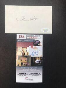 LAMAR HUNT KANSAS CITY CHIEFS OWNER sign 3x5 index card JSA CERTIFIED AUTOGRAPH!