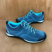 LL Bean Sport Suede Casual Shoe Womens 6.5 Blue Black Water-Resistant Athletic