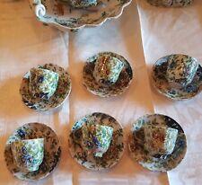 Tazzine da caffe  antiche  ceramica dipinta mano Angelo Minghetti BO