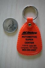 AC Delco Automotive Super Center Longview Texas Orange Keychain Key Ring #25984