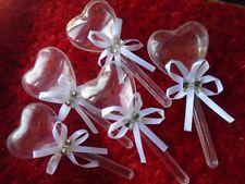 6 pcs sucette coeur contenants à dragées,décoration baptême baby shower mariage