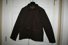 Women Lauren Jeans Company Ralph  Brown Quilted Equestrian Jacket Size L